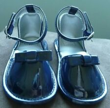 Janie and Jack Blue Baby Girl Summer Shoes Sandals Size 4