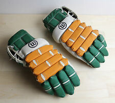 Vintage WILSON Ice Hockey Gloves H-8230 Horeshide Leather MN North Stars Colors