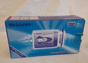 Boxed SHARP MD-SR60E Champagne Gold Portable Minidisc Mini Disc Player Recorder