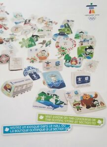 """Pin Trading Poster Large 17""""x24"""" EVENT USED Vancouver 2010 Olympics NON-RETAIL!"""