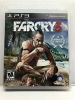 Far Cry 3 (PlayStation 3 PS3) Complete W/ Manual Tested Working Free Ship