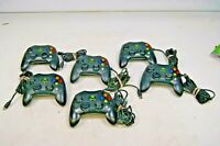Lot of 6 Official OEM Original Xbox S Controllers Lot Parts/Repair