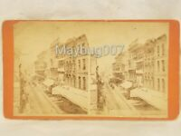 Antique Philadelphia Chestnut Street Stereoview Card Early