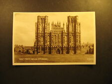 West Front, Wells Cathedral, about 1910, real photo, Valentine & Sons, unused