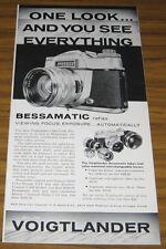 1961 VINTAGE AD~VOIGTLANDER BESSAMATIC 35MM REFLEX CAMERAS