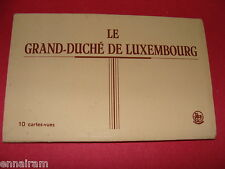 Grand Duchy of Luxembourg 10 B/W Views Souvenir Photo Strip Postcard  Pack