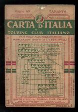 TARANTO FOGLIO 43 CARTA D'ITALIA DEL TOURING CLUB ITALIANO 1910 PUGLIA