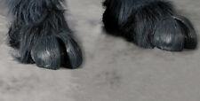 Gray Hooves Devil Demon Feet Adult Shoe Covers Latex Halloween Costume