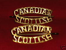 CANADIAN SCOTTISH REGIMENT Shoulder Title Badges