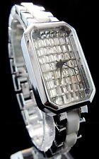 Women's Luxury Silver Tone Baguette CZ Face Fashion Wrist Quartz Watch