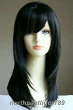 Hot Sell New Fashion Long Black Straight Varus Women's Lady's Hair Wig Wigs +Cap