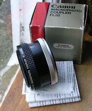 Genuine Canon FL FD MACRO FOTO ACCOPPIATORE REVERSE Mount elicoide FL52 52mm
