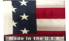 10 'X 15' American Flag Made In The Usa Embroidered Nylon Outdoor Flag