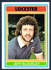 TOPPS 1976 FOOTBALLERS #176-LEICESTER CITY-JEFF BLOCKLEY
