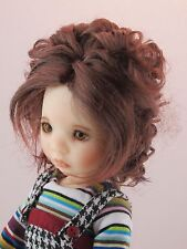 Monique BIANCA Wig Reddish Auburn Size 6-7 YoSD Dollfie shown on Avery My Meadow