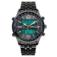 Luxury Men's Analog Digital Stainless Steel LED Army Military Sport Wrist Watch