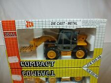 JOAL 166 JCB 528-58 TELESKOPIC CRANE + PALLET FORK  - YELLOW 1:35 - GOOD IN BOX
