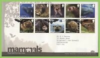 G.B. 2010 Mammals set on Royal Mail First Day Cover, Batts Corner