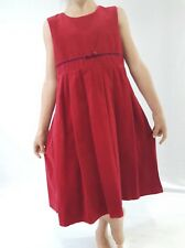 Vintage Laura Ashley Dress Red Velvet Party Smart Formal 116cm 6yrs 7yrs