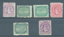 Cook Islands 1896-1916 sg.14 MH sg.23, 25, 26a no gum and sg.39, 43 used