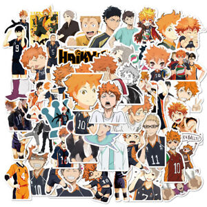 52pcs Haikyu!! Stickers Vinyl Decal Stickers for Skateboard/Luggage/Laptop/Book