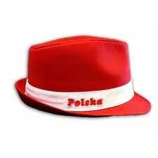 NEW UNISEX RED HAT PANAMA TRILBY STYLE MENS WOMENS, KAPELUSZ POLSKA POLSKI