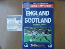 Scotland Teams S-Z Football Programmes with Match Ticket