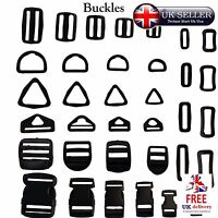 Buckles Adjustable Assorted Tape Webbing Strap Connector Backpack Plastic Slider