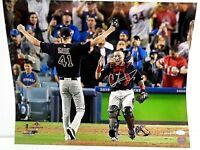 Christian Vazquez Wolrd Series Boston Red Sox Autographed 16x20 Photo coa-JSA