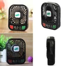 Brushless Mini Fan Usb Rechargeable 3 Controllable Speed Led Light Desk Fan Hot&