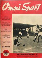 Omni Sport n°10 - 1946 - Foot France Autriche - Ray Famechon - Camellini - Pétra