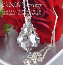 925 Sterling Silver Necklace Crystals From Swarovski® 22mm BAROQUE Crystal CAL