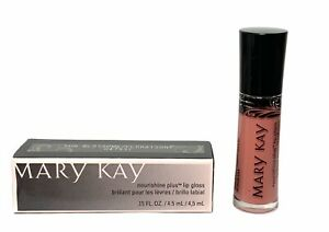 Mary Kay Nourshine Plus,Lip Gloss, Color SUN BLOSSOMS, Conditioning Long-Lasting