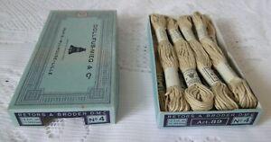 DMC DOLLFUS MIEG 9 échevettes coton retors à broder art.89 N° 4 réf 2613 boite