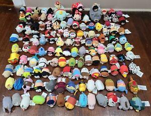 Huge Lot Of 125 Disney TSUM TSUM Mini Plush Mixed Characters