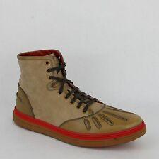 New Gucci Men's Calf/Naturale Leather Hi-top Sneaker 9G/US 9.5 353417 2760