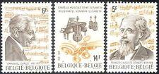 Belgium 1980 Gevaert/Durlet/Composers/Music/Musicians/Instruments 3v set n43249