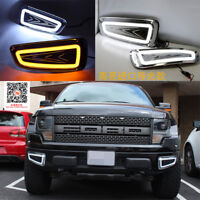 DRL FOR FORD F150 2010-2014 LED DAYTIME RUNNING LIGHT FOG LAMP WITH TURN SIGNAL