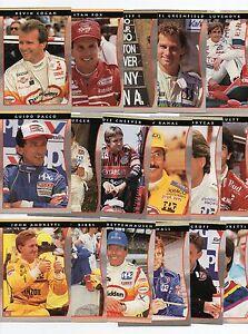 PPG INDY CARD WORLD SERIES 1992 50 CARD LOT UNSER, WOOD, FOX, JOHNCOCK, BRABHAM