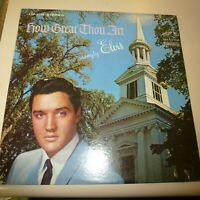ELVIS PRESLEY RELIGIOUS 33 RPM LP RECORD - RCA VICTOR LSP 3758 - DYNAGROOVE