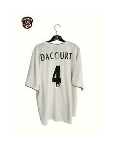 Signed Leeds United FC Football Home Shirt 2000 L)#4 Dacourt Nike France Jersey