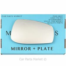 Right side Flat Wing mirror glass for Aston Martin DB9 04-12 + plate
