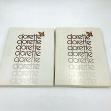 Vintage 4 Pairs Dorette Stockings Suntan size 9.5 in Open Box 0106 St