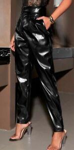 Lederhose lederimitat Gr.XL 42 44 Leder Hose keine lack glanz leggings pvc pu