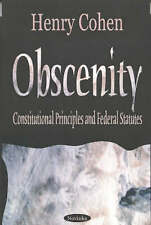 New, Obscenity: Constitutional Principles and Federal Statutes, Henry Cohen, Boo