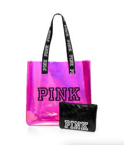 Victoria's Secret PINK Iridescent Tote Bag & Pouch