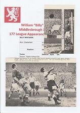 BILLY Whitaker / D Robinson / R Dicks Middlesbrough RARE ORIG firmato annuale talee