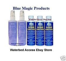 BLUE MAGIC All Purpose Waterbed 3-8oz Conditioners & Two 8oz Vinyl Cleaners