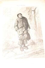 GAVARNI GRAVURE 1869 NOVEMBRE LES DOUZE MOIS DERNIERE OEUVRE  R1536