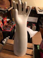 """VINTAGE  22 1/4"""" Tall Porcelain Glove Mold Size 10 Left Hand"""